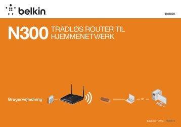 N300Trådløs rouTer Til hjemmeneTværk - Belkin