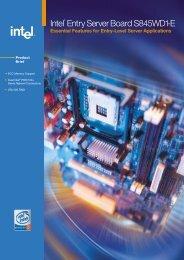 Intel® Entry Server Board S845WD1-E Product Brief