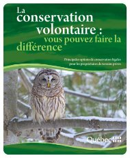 La conservation volontaire - Développement durable ...