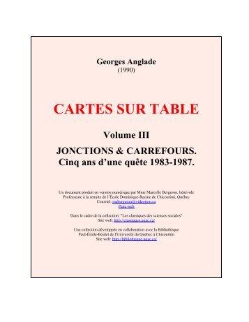CARTES SUR TABLE - Les Classiques des sciences sociales - UQAC