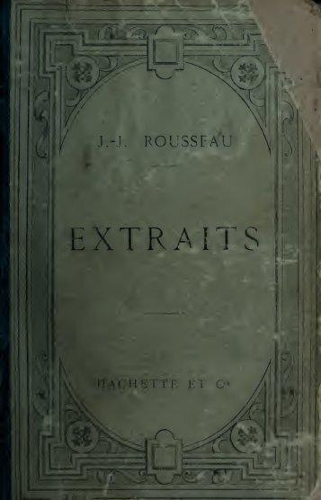 Extraits. Publié avec une introd. et des notes par L. Brunel