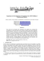 Experience in Development of Translators for AP203 Edition 2 ...