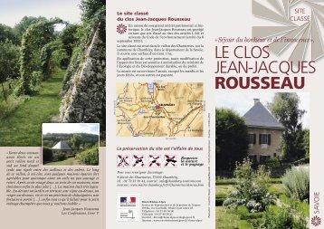 clos Jean-Jacques Rousseau - DREAL Rhône-Alpes