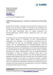 Kaiser AG Fahrzeugwerk Vorarlbergerstrasse 220 LI-9486 ...
