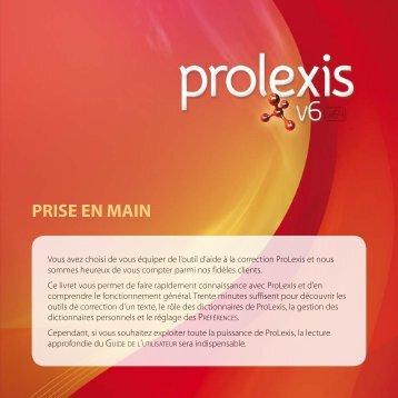 PRISE EN MAIN - ProLexis