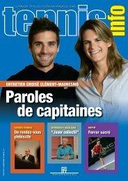 TENNIS INFO N°447 Décembre 2012 - Fédération Française de ...