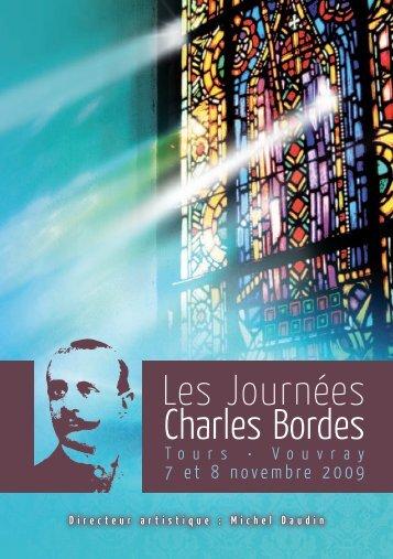 Télécharger le livret 2009 - Les Journées Charles Bordes à Tours et ...