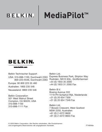 MediaPilot™ - Belkin