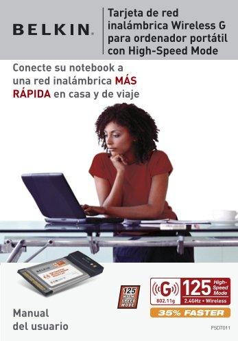 Tarjeta de red inalámbrica Wireless G para ordenador ... - Belkin
