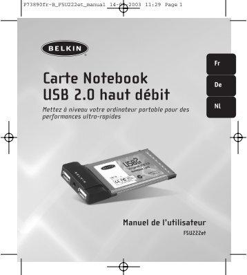 Carte Notebook USB 2.0 haut débit - Belkin
