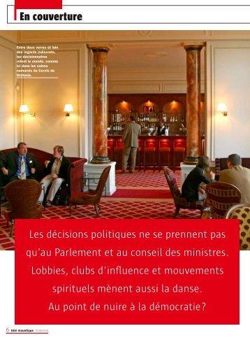 Télémoustique : Les vraix lieux du pouvoir - Cercle de Wallonie