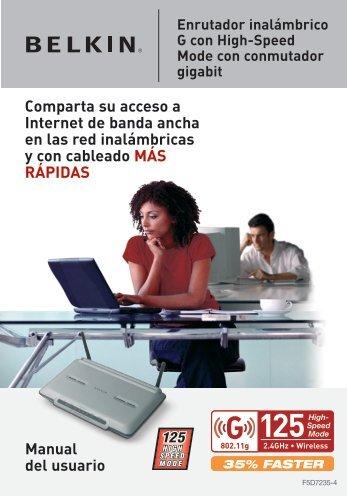 Manual del usuario Comparta su acceso a Internet de ... - Belkin
