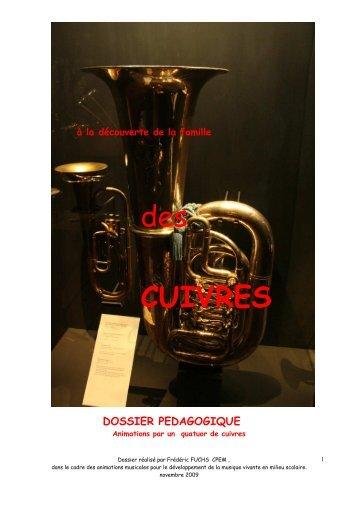dossier pédagogique quatuor cuivres 2010
