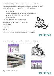 Programme de cours - pdf, 3.5M - Pro Infirmis