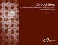 20 Questions - Comptables agréés du Canada