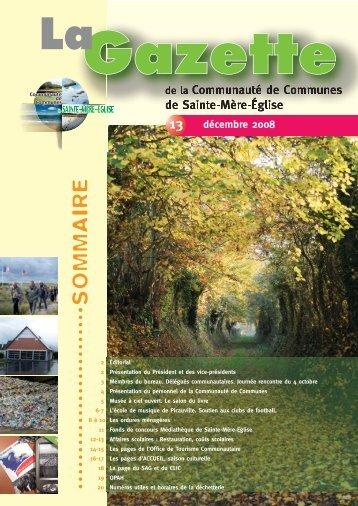 Gazette du 12 décembre 2008 - Office de Tourisme Sainte Mère Eglise