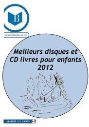 Meilleurs disques et CD livres pour enfants 2012 - Bibliothèques de ...