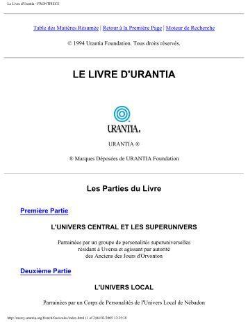 URANTIA D LIVRE LE PDF