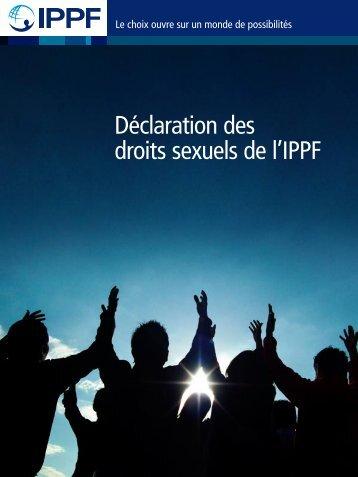 Déclaration des droits sexuels de l'IPPF