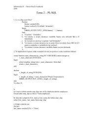 Tema 2 – PL/SQL - Cadre Didactice