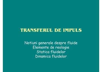 TRANSFERUL DE IMPULS - Cadre Didactice