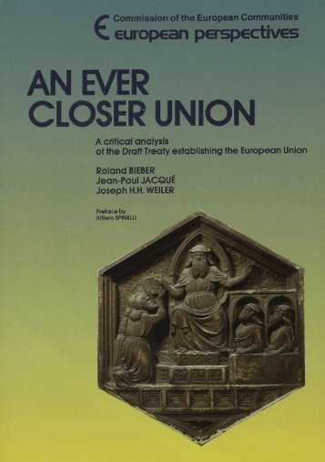 An ever closer Union - European University Institute