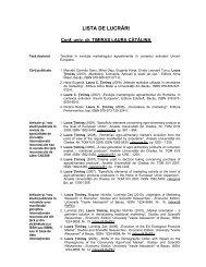 LISTA DE LUCRĂRI - Cadre Didactice