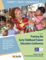 Training the Early Childhood Trainer Education Conference