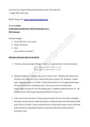 Soal Final Perorangan Olimpiade Matematika Vektor Nasional 2011 ...