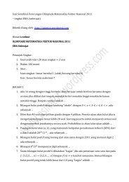 Soal Semifinal Perorangan Olimpiade Matematika Vektor Nasional ...