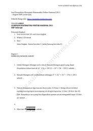 Soal Penyisihan Olimpiade Matematika Vektor Nasional 2011 tk. SMP