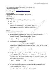Soal Penyisihan Olimpiade Matematika Vektor Nasional 2011 tk