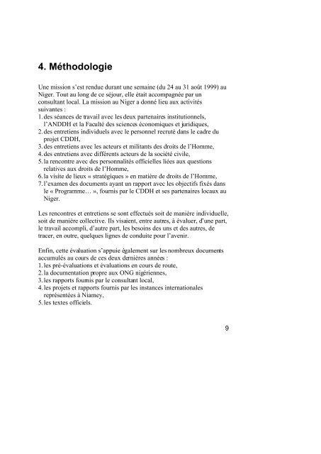 Evaluation du Programme de Renforcement des Compétences et ...