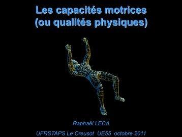Les capacités physiques - Culture STAPS