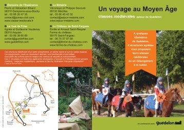 Un voyage au Moyen Âge 2013 (PDF - 1253 Ko) - Guédelon