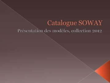 Catalogue SOWAY