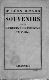 Souvenirs d'un Medecin des Prisons de Paris