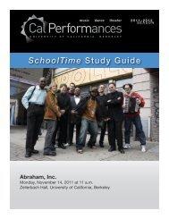 Abraham Inc. - Cal Performances - University of California, Berkeley