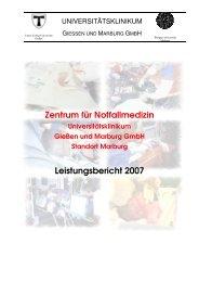 ZNOTMED Leistungsbericht 2007 - Universitätsklinikum Gießen und ...