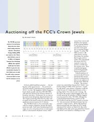 Auctioning off the FCC's Crown Jewels - Engineering & Science ...
