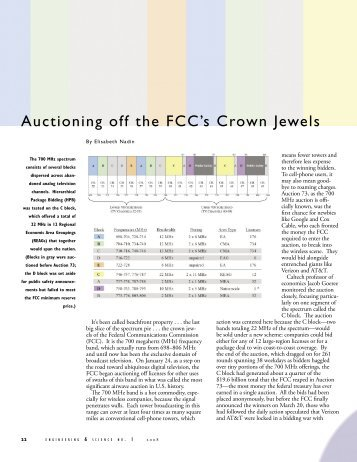 Auctioning Off The FCCs Crown Jewels