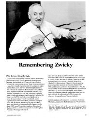 Remembering Zwicky - Engineering & Science - Caltech