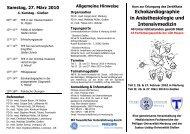 TEE Flyer 2010 - Universitätsklinikum Gießen und Marburg ...