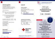 Marburger Kompaktkurs Zusatzbezeichnung Notfallmedizin 11.03 ...