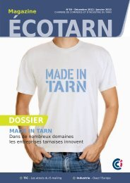 Consultez l'Ecotarn 50 - La Chambre de Commerce et d'Industrie du ...
