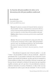 La función del psicoanálisis de niños en la deconstrucción ... - PePSIC