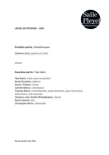 Télécharger le programme - Salle Pleyel