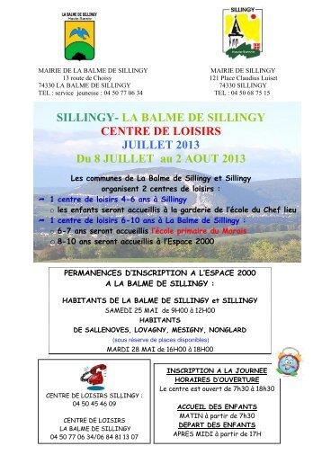 Programme vacances de juillet - Mairie de La Balme-de-Sillingy