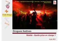 2013 Drogues festives - Séminaire de Formation de la SFLS pour pdf