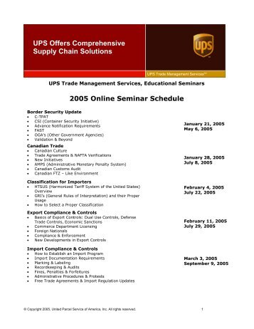 Canada Customs Invoice Instructions - UPS Supply Chain Solutions